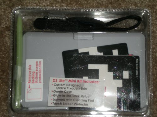 DS Lite Mini Kit w/ Space Invaders Skin, Game Case, Stylus, Lanyard w/ Cleaning Pad, and Touch Screen Protector