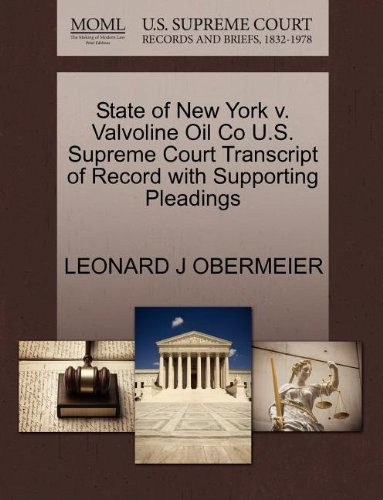 state-of-new-york-v-valvoline-oil-co-us-supreme-court-transcript-of-record-with-supporting-pleadings