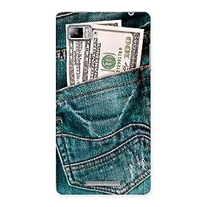 Delighted Full Dollar Jeans Back Case Cover for Lenovo Vibe Z K910