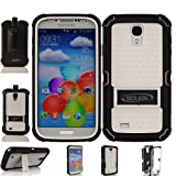 ®Bolkin Defender Case & Holster for Samsung Galaxy S4 I9500 - Retail Packaging (white)