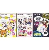 Fujifilm Instax Mini Instant Film 10 Sheets × 3 Packs (RiLakkuma & Disney MICKEY & Friends & Comic) [Komainu-Dou Original Packege]