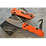 Benchmade 915-ORG Triage Rescue Knife w/ Seatbelt Cutter / Glass Breaker Tip and a Free Benchmade Mini Sharpener