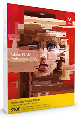 Adobe Flash Pro CS6, Student and Teacher Version (PC)