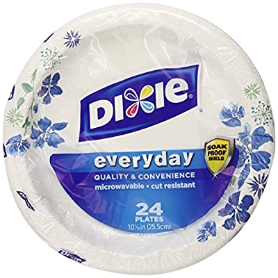 Dixie HD Paper Plates, 10 1/16 Inches