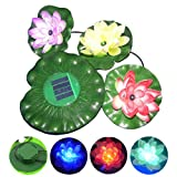 Solar Power LED Lotus Light Flower Lamp Floating Pond Garden Pool Nightlight Floating Pond Garden pool Flower Light Lamp