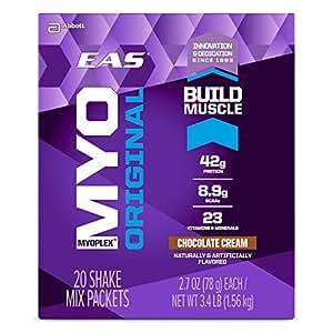 EAS Myoplex Original Nutrition Shake Powder, Chocolate Cream, 2.7-Ounce Packet, 42 Count