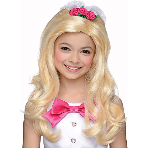 Kids Barbie Bride Wig - One Size