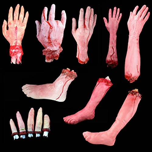 Rekais Halloween Costume Haunted Home Décor Body Parts, Cut Off Arm