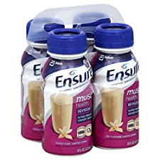 Ensure Muscle Health Nutritional Shake, Homemade Vanilla, 4 - 8 fl oz (237 ml) bottles