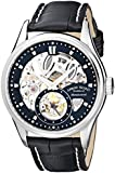 Armand Nicolet LS8 9620S-NR-P713NR2 43mm Stainless Steel Case Black Leather Men's Watch
