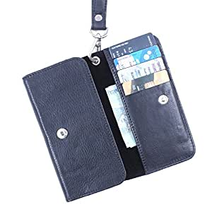 Dooda Genuine Leather Wallet Pouch Case For LG Nexus 5 (BLACK)