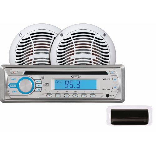 "Jensen Jensen Cpm530 Am/Fm/Cd Stereo Combo Package W/6.5"" Speakers & Front Cover"