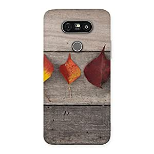 Stylish Leaves on Wood Back Case Cover for LG G5