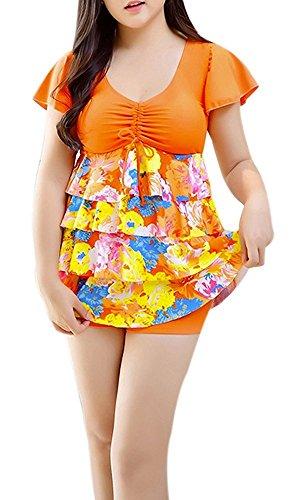 yuguo-womens-printed-sexy-cut-slim-one-piece-tankini-swimsuit-dress-swimwear