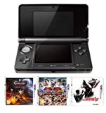 N3DS: Nintendo Handheld Console 3DS - Black 3 Game Pack (Nintendo 3DS)