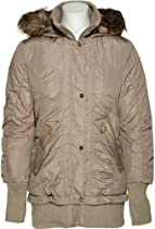 STEVE MADDEN Parka W/ Removable Fur Trim Hood (TAN) [OLA323H], MEDIUM