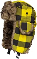 Y&W Child/Kid Checkered/Plaid Nylon Russian/Aviator Winter Hat (One Size)