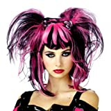 Black / pink Cheshire Cat wig
