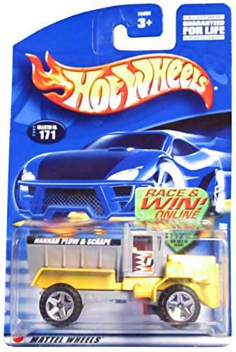 Hot Wheels 2002 Oshkosh Snowplow Yellow #171