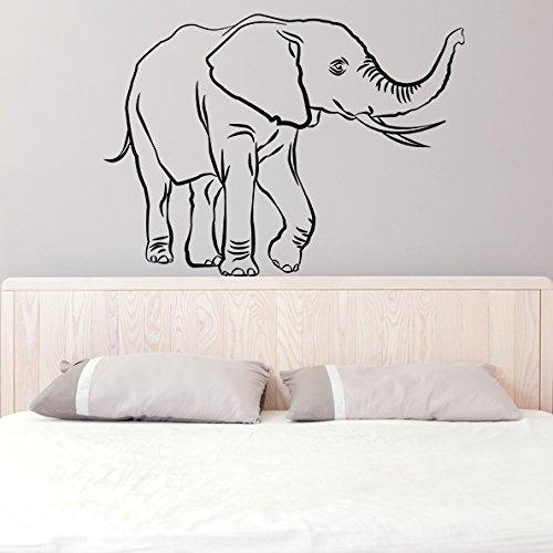 (120x 87cm) en vinyle autocollant mural Lucky éléphant