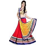 Anu Clothing Womens Net Lehenga Choli (Aasr005 _Red _Free Size)