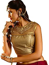 Melluha Square Net Stitched Customizable Blouse with Santoon Inner