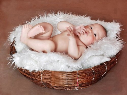 Newborn Baby Infant Photography Prop Handmade Woven Basket D-1