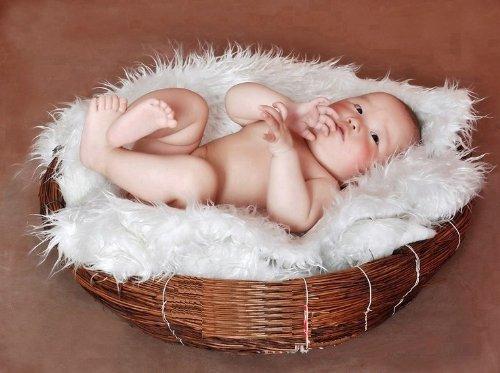 Newborn Baby Infant Photography Prop Handmade Woven Basket D-1