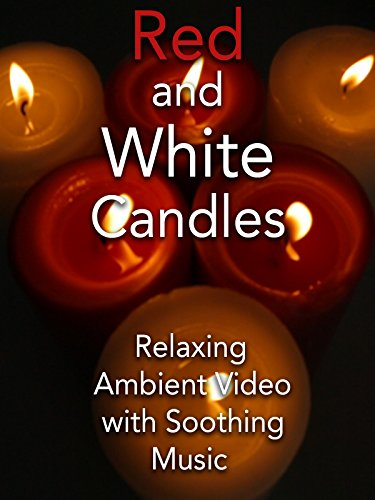 Red and White Candles Relaxing Ambient Video with Soothing Music