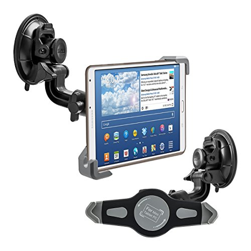 kwmobile supporto per parabrezza auto per Amazon Tablet PC - supporto auto con ventosa in nero - compatibile ad es. con Apple, Samsung, Lenovo, Asus, Huawei, Amazon, Acer, Microsoft, Sony, LG