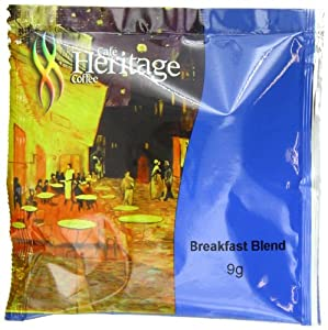 Cafe Heritage Breakfast Blend Coffee, 25 Count Coffee Pods