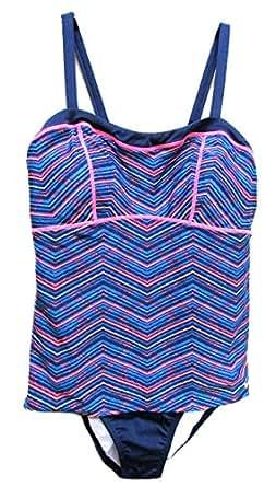 Amazon.com: Nike Women's Swim NESS5194 Blue Multicolored 2