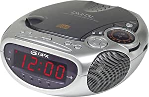 gpx crcd 2806 clock radio and cd player with am fm radio and alarm electronics. Black Bedroom Furniture Sets. Home Design Ideas