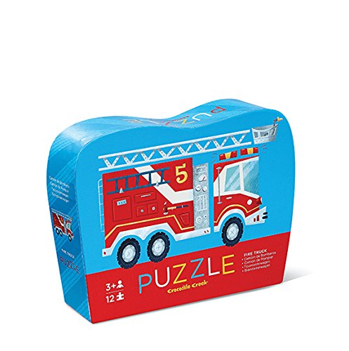 Crocodile Creek 12 pc Mini Shaped Puzzle/Fire Truck - 1