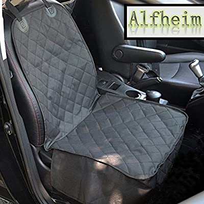 Dog Car Seat Cover,Alfheim Nonslip Rubber Backing with Anchors for Secure Fit - Universal Design for All Cars, Trucks & SUVs