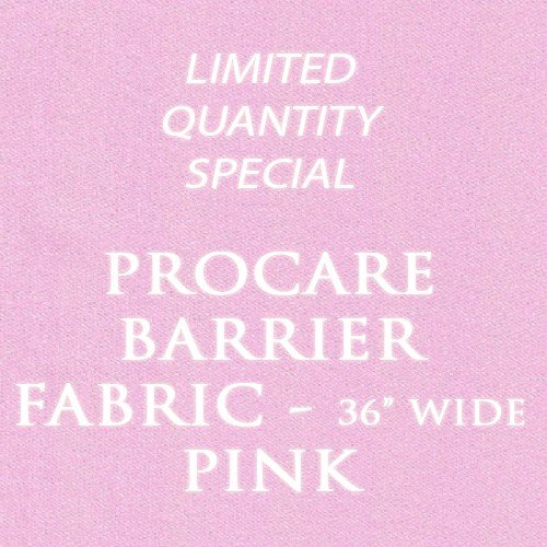 "Food Safe Procare Waterproof Barrier Fabric (Made In Canada, Sold By The Yard) (36"" Wide, Pink)"