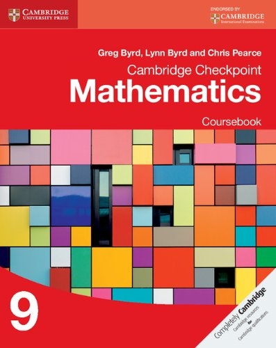 Cambridge Checkpoint Mathematics Coursebook 9 (Cambridge International Examinations)