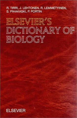 Elsevier'S Dictionary Of Biology: In English (With Definitions)