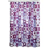 InterDesign  Mod Square Shower Curtain, Purple, 72-inch by 72-inch