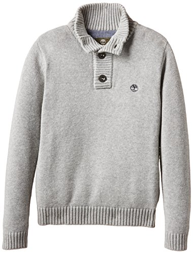 Timberland - Pull, Maglione per bambini e ragazzi, grigio (grau - grau  (grau meliert)), 5 anni (110 cm)