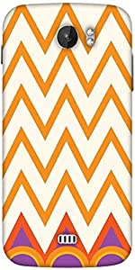 Snoogg Minimal Waves Designer Protective Back Case Cover For Micromax A110