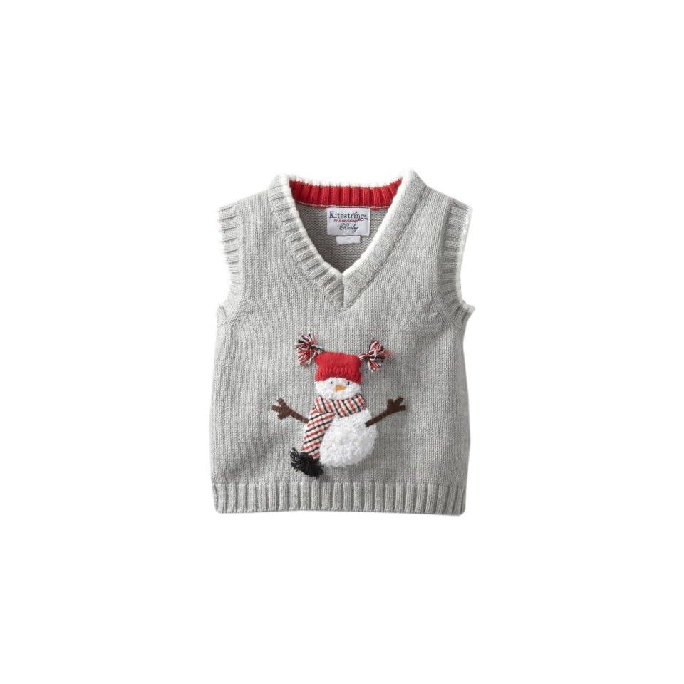 Kitestrings Baby Boys Newborn Snowman Sweater Vest