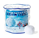 Indoor Snowball Fight - Snowtime Anytime 25pk - Safe, No Mess, No Slush - HOURS OF FUN!