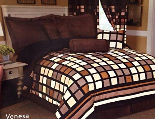 7 Pieces Complete Luxury Bedding Comforter Set Bed-In-A-Bag (Queen) front-69055
