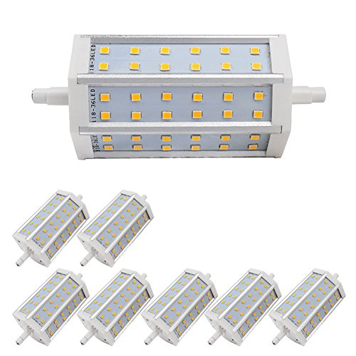 8X Light Led Non-Dimmable Warm White Bulb 7W R7S Smd 2835 Low Consumption 630Lm Ac 85-265 V