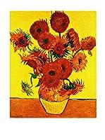 Especial Arte Lienzo Vaso con girasoli Multicolor