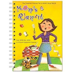 Mom's Plan-It 17 Month 2008-2009 Engagement Diary Calendar (Moms Planner)