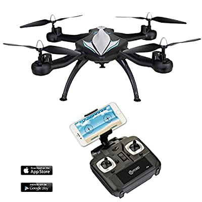 CHRISTMAS SALE-F4 WiFi FPV Quadcopter Drone w/ HD Camera,Live Video For Aerial Photography,Altitude Hold,Headless Mode,Easy to Fly for Expert Pilots & Beginners| Great Gift Idea by Contixo by Contixo