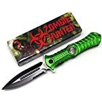 "Zombie Hunter ""Haunt"" A0 Tactical Folding Knife – Green"