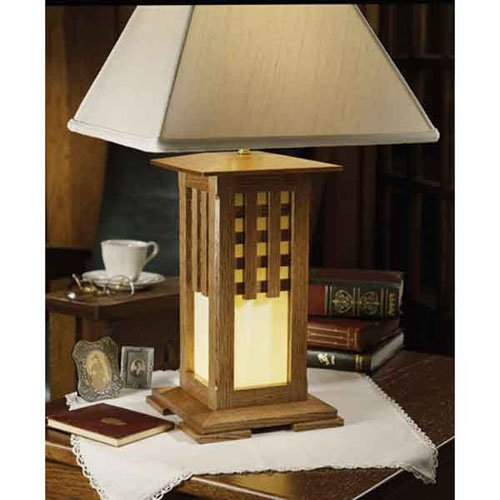 Arts and Crafts Lamp: Downloadable Woodworking Plan